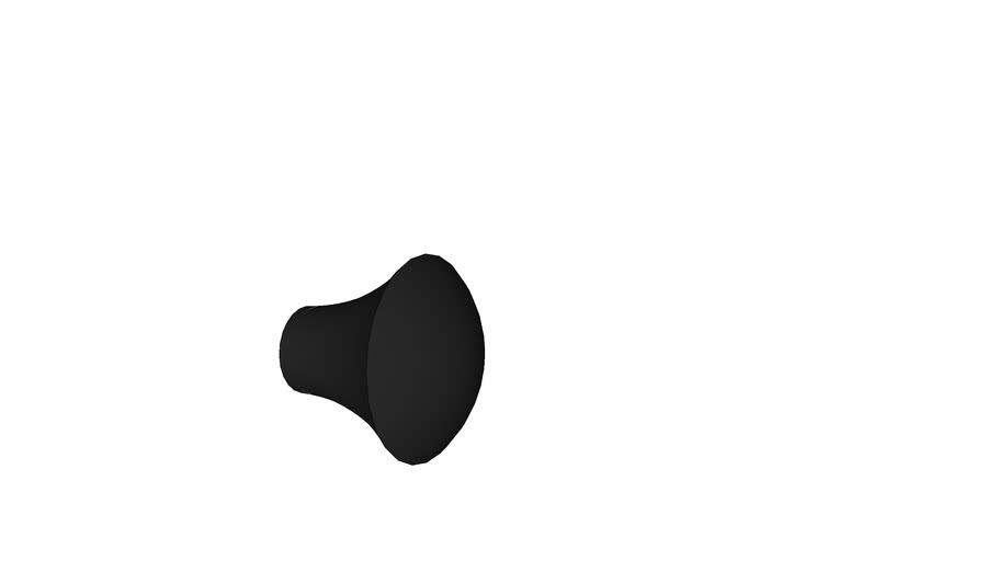 Ebony knob 32mm