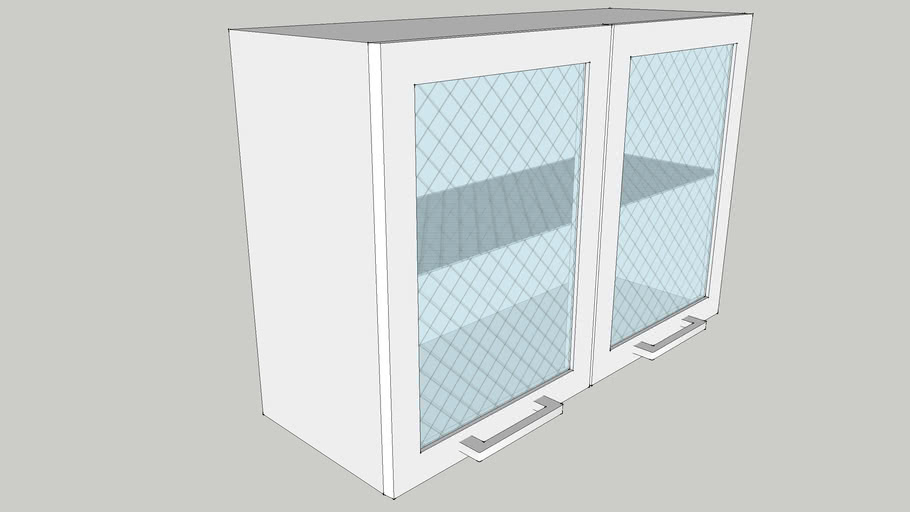 900 Wall Module with Two Glass Shutters 900X300X600 CID_CP10000130