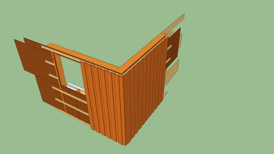 Wandmodell Holzrahmenbau