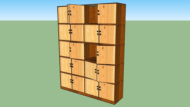 Personal Employees Cabinet (Gecko Furniture)