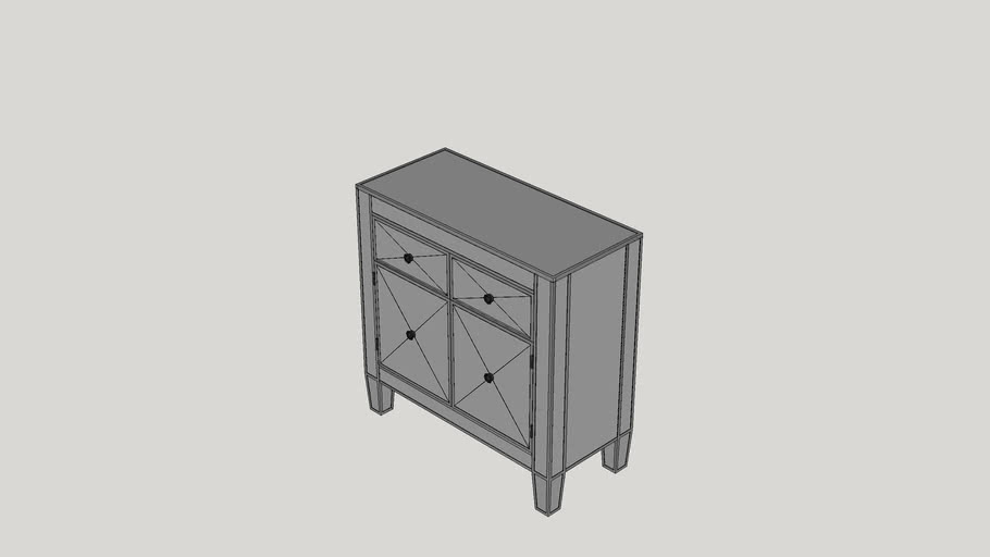 Rachael 2 Drawer Accent Cabinet