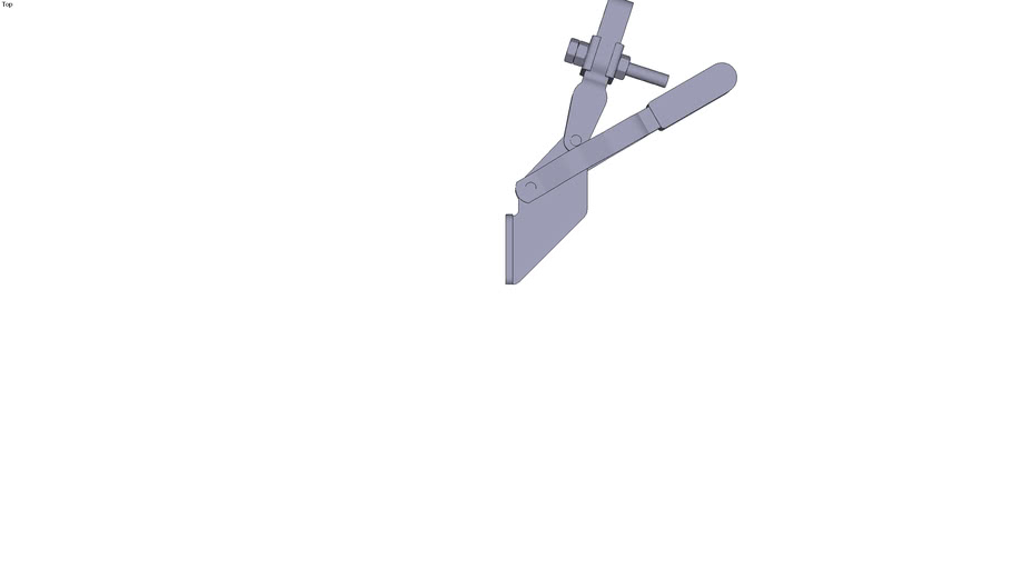 Collar vertical toggle clamp - Front mounting - M6x45