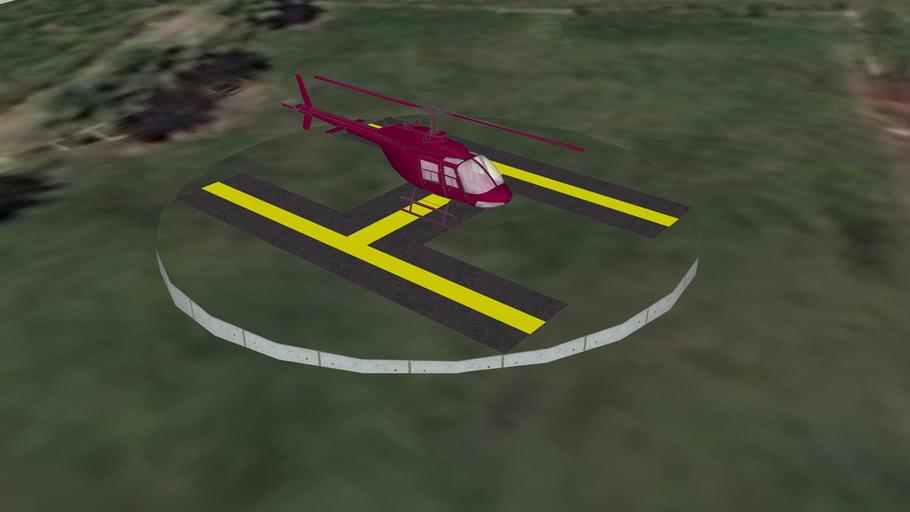 Helicoptero na Base do Garrafão