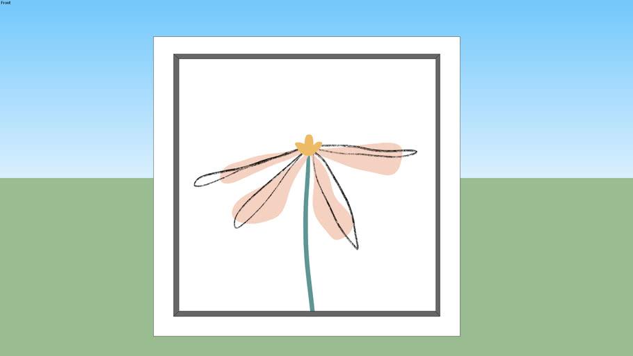 Quadro-Simple Flower