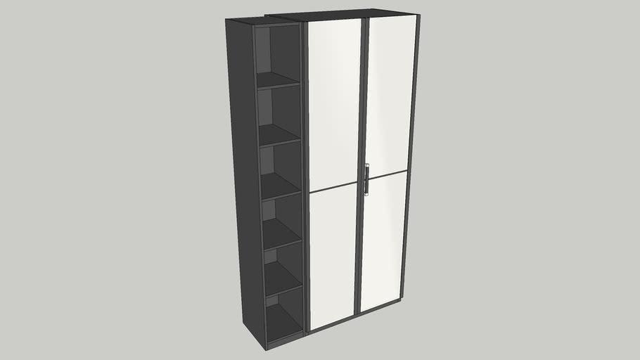 essensa wardrobe with open shelf, Emmezeta