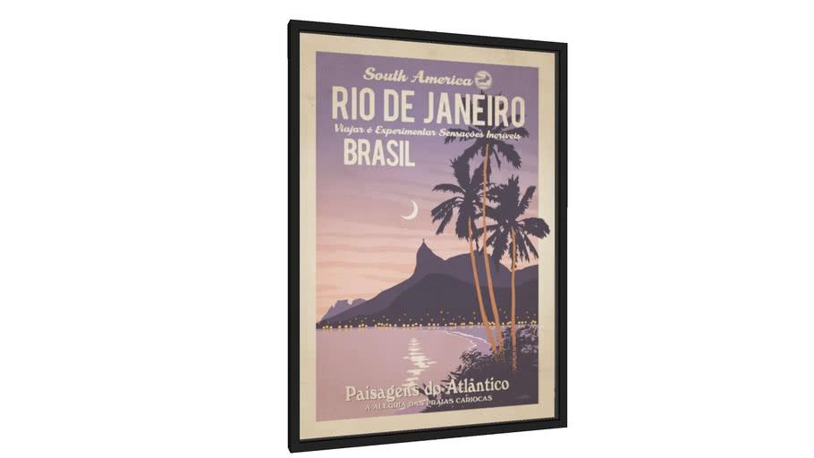 Quadro Rio Nostalgia - Galeria9, por Cocobamboo Artwork