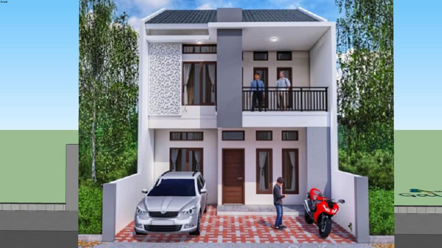 Desain Rumah 2 Lantai Minimalis 3d Warehouse