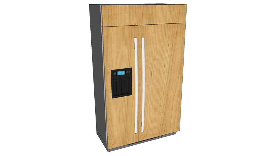 JS48CXDBDB Built-In Side-By-Side Refrigerator with Dispenser
