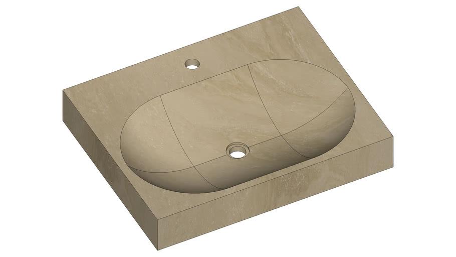 AKEI | Pietre di Rapolano | 62x49cm, h.10cm