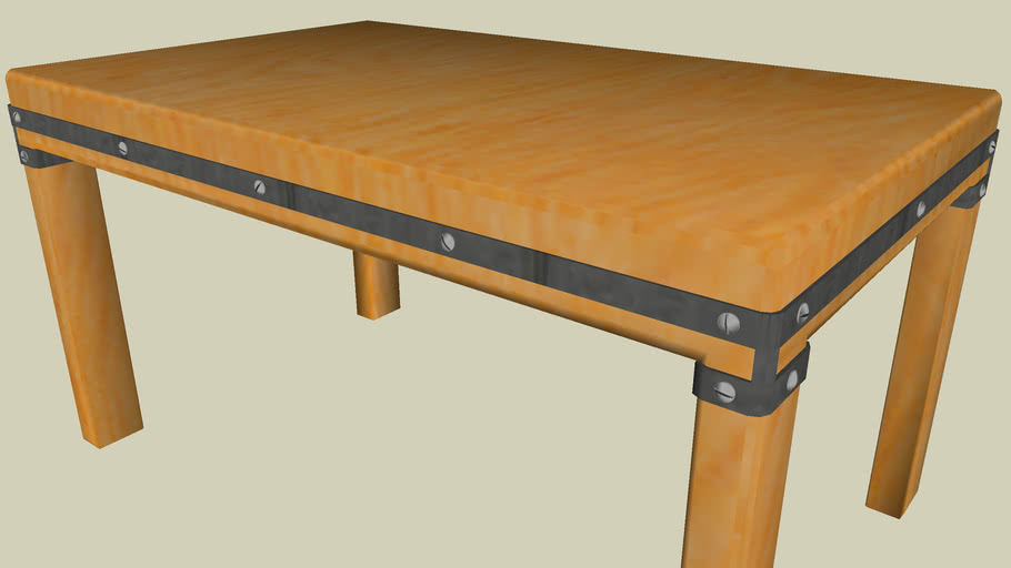 Mesa rustica -madera hierro