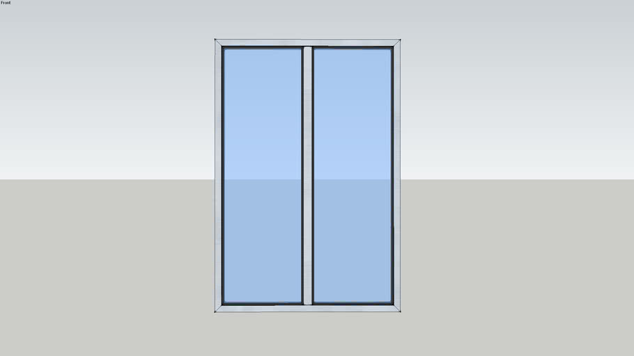Porte-fenêtre 2 vantaux oscillo-battante - SOLEAL Ouvrant Minimal