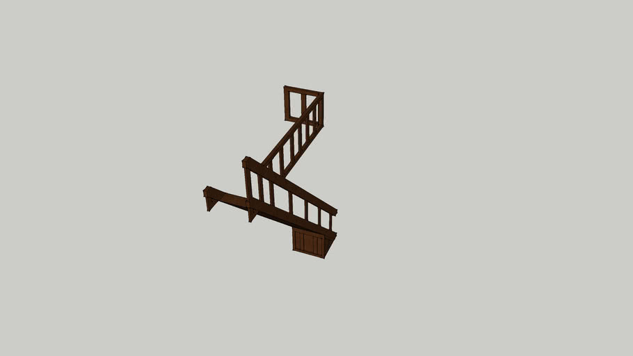 15ft staircase right railing