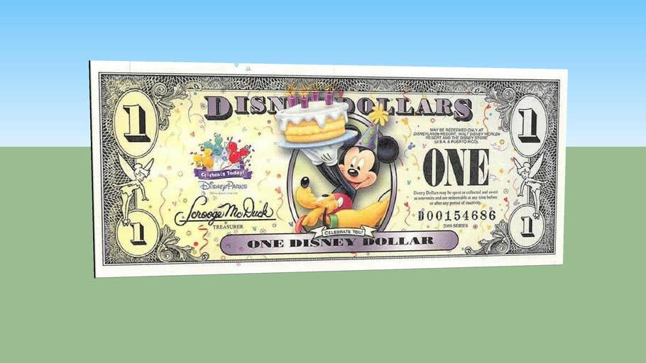 One disney dollars - 1 $