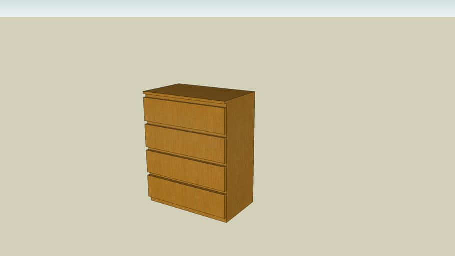 Cassettiere Malm Di Ikea.Cassettiera Malm Di Ikea 3d Warehouse