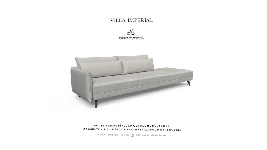 Sofá Adria - 2 Assentos mais Puff    Villa Imperial - Casa Vetti