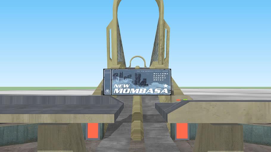 Retextured Mombasa Suspension bridge