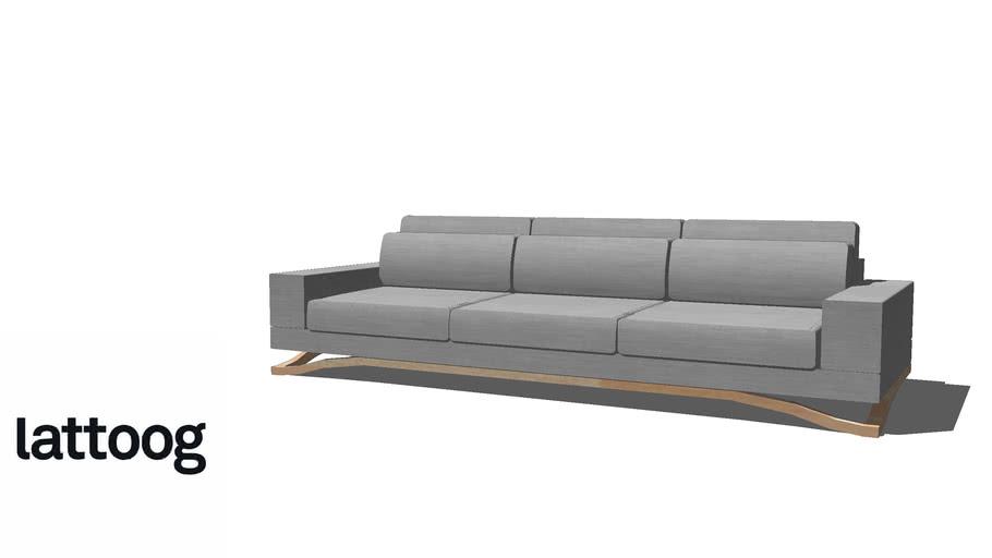 Sofá Float 280 cm - Lattoog