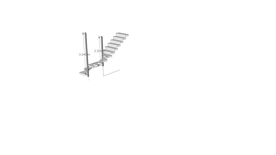 S Shape stairs