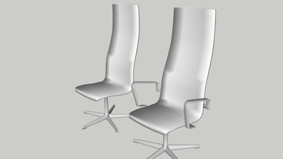 Fritz Hansen - oxford; high-back chair