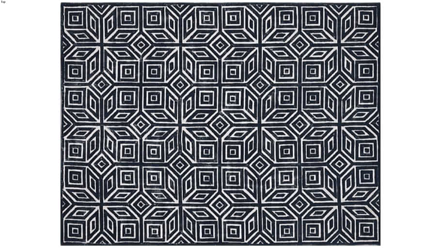 9x12 CB2 Graphic Area Rug
