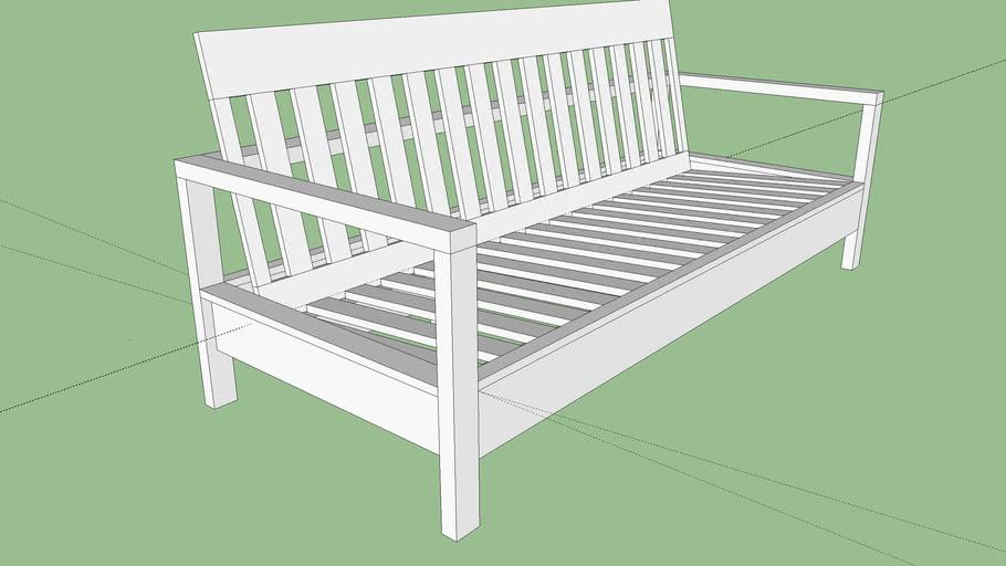Ana White Outdoor Sofa Plan 25x25