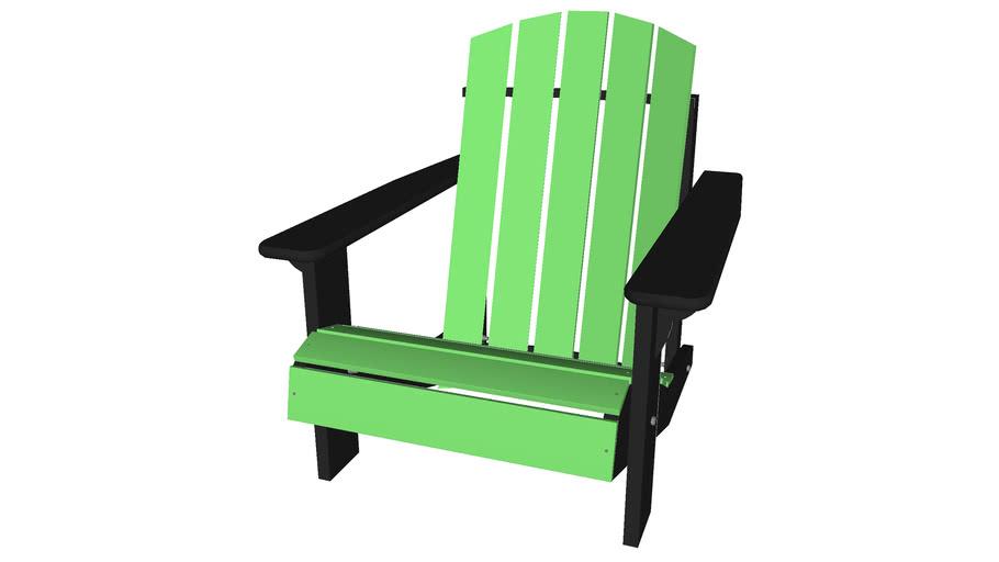 Adirondack Beach Chair - Detailed