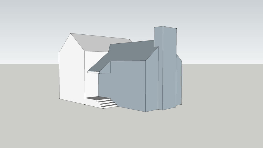 CAD house drawing