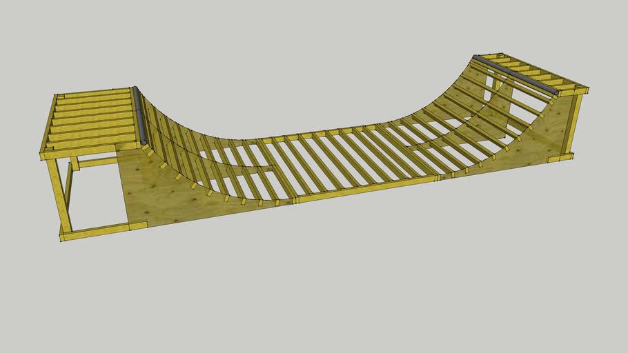 4 Foot Mini Ramp Plans Revised 3d Warehouse