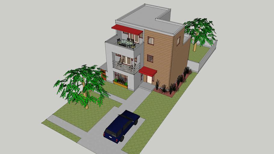 3 floor modern home