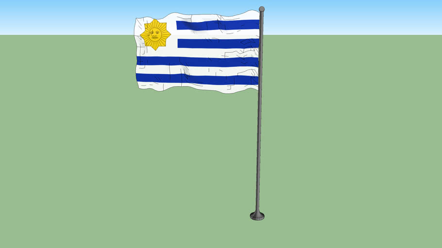 Flag used by the Gobierno del Cerrito during the Civil War in Uruguay (1843-1851)