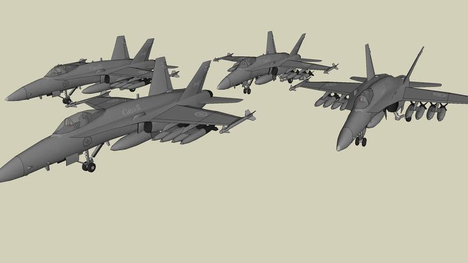 F/A-18C Hornet - Diamond Formation