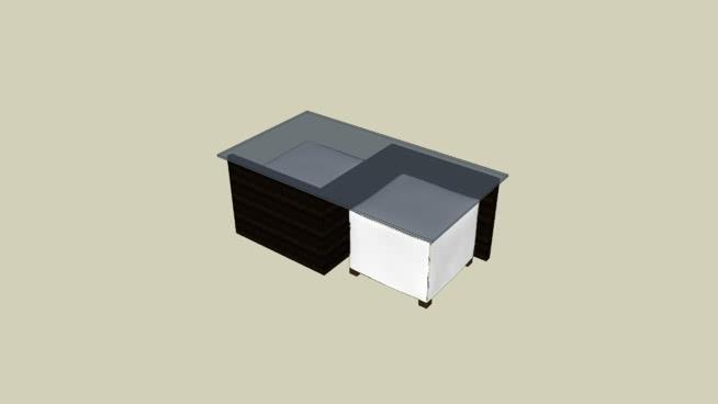 mesa de centro con 2 puffs