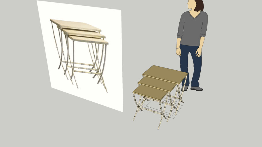 nesting table -  W50 x D30 x H70 cm