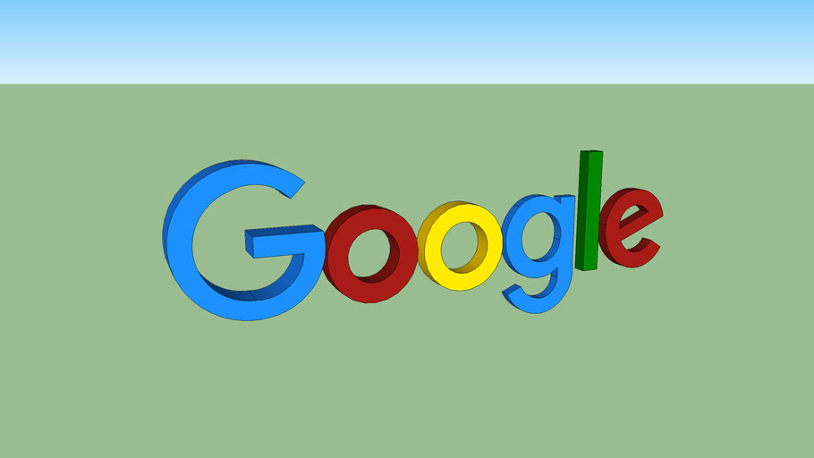 Google logo 3D