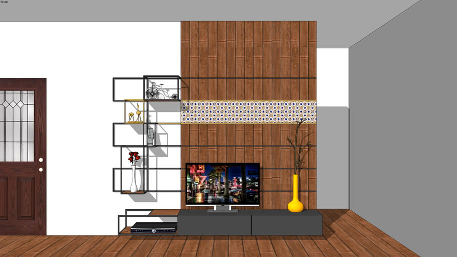 Tv Unit Decor Item Accessories Boat Yellow Wood Rustic Nature 3d Warehouse