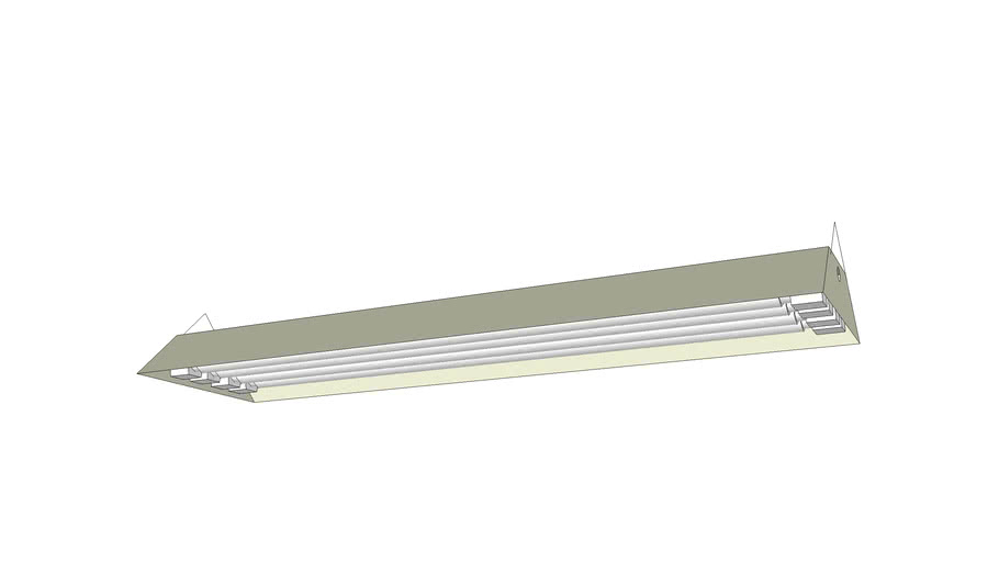 Fluorescent Hanging Ceiling Lamp 48 Inches Warehouse