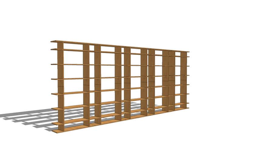 15' Wide Classic Bookshelf 0615f011
