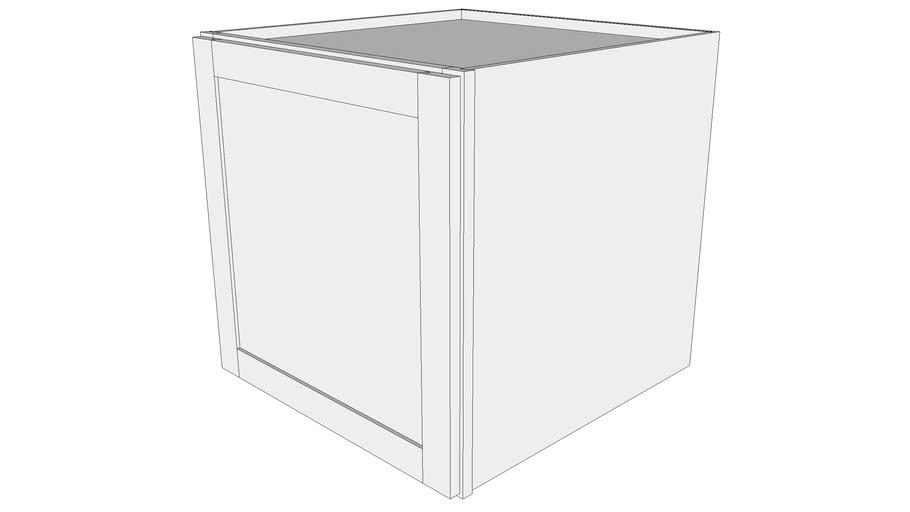 """Bayside Wall Cabinet 24W2424 - 24"""" Deep, One Door"""