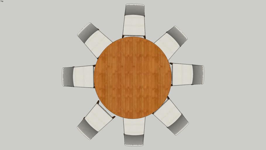 Mesa Redonda 8 Cadeiras