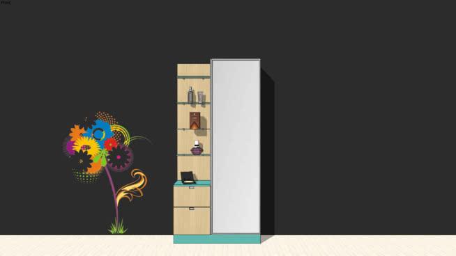 DRESSER+MAKEUP+FLOWER+MIRROR+DRESSING+GLASS+MODERN