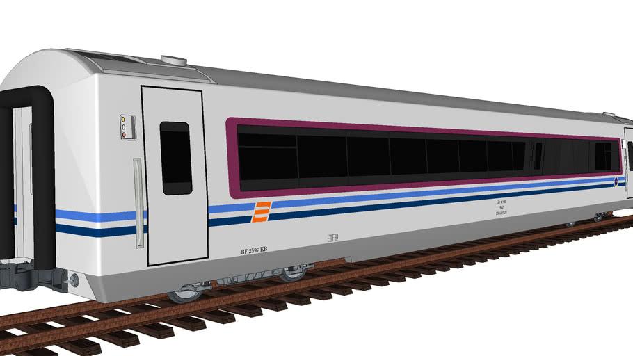 First Class Passenger Car (Argo Bromo Anggrek Train Original Livery)