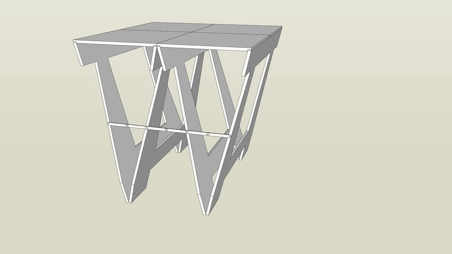 Butterfly Sawhorse from October 2014 issue Popular Woodworking Magazine