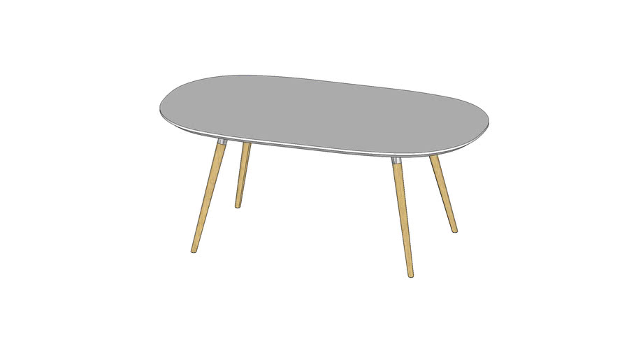 Flux oval table 足形圆角方桌(180x90)