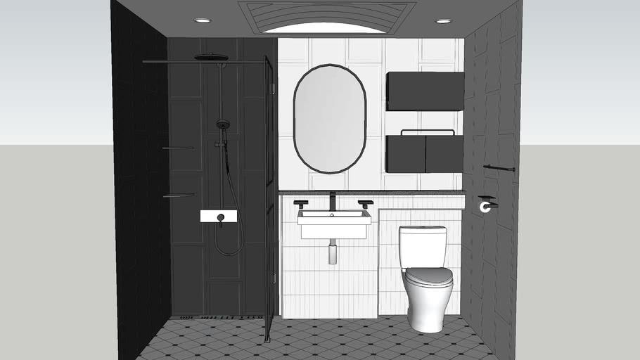 bathroom_black&white