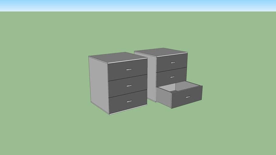 Modern (grey) nightstand