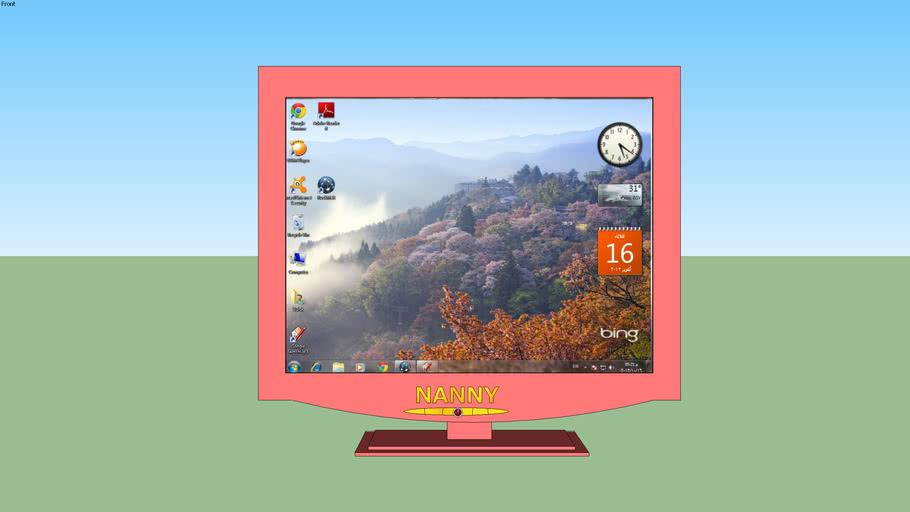 computer monitor  pink