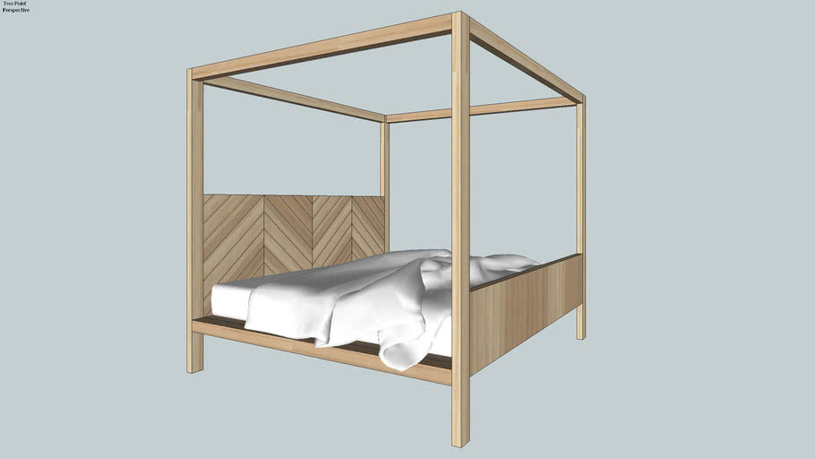 Bed Frame with Posts