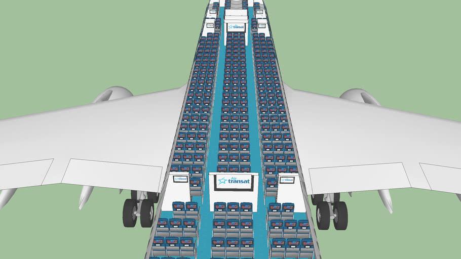 Air Transat Airbus A330-300 Cabin Interior