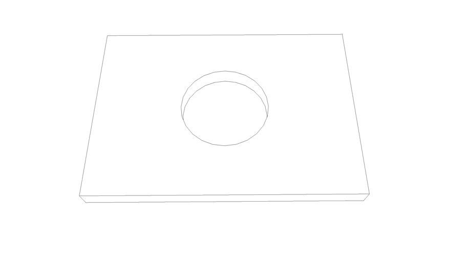 podkotevni deska 490x350x35 dira D 165