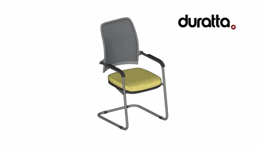 Cadeira Agnes Baixa Fixa com Braço